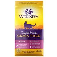 Wellness Complete Health Natural Grain Free Dry Cat Food, Indoor Salmon & Herring Recipe, 5.5-Pound Bag