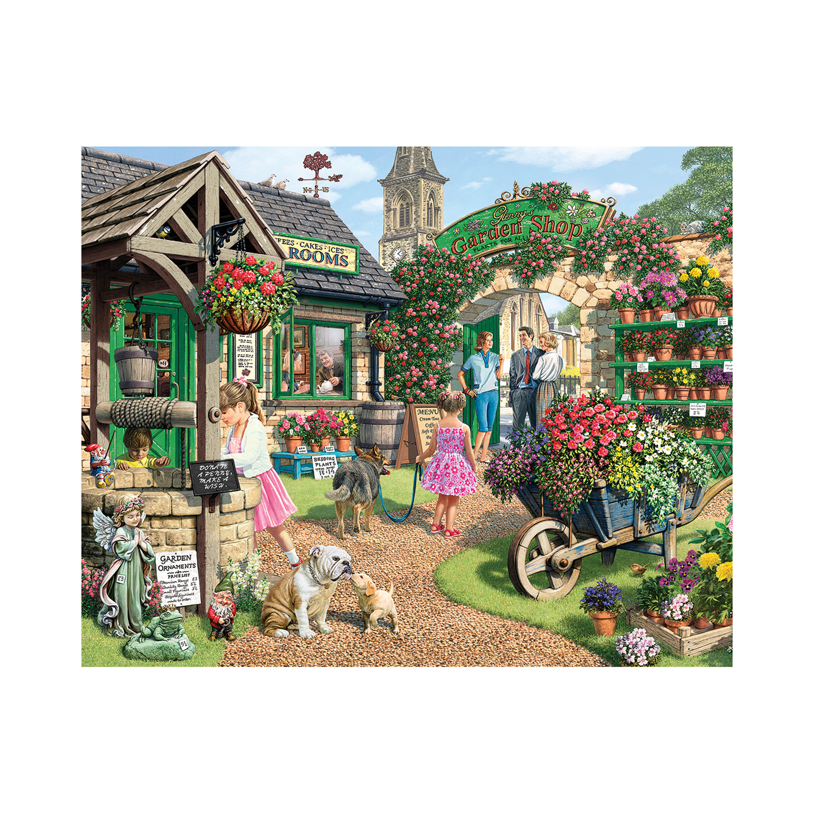 White Mountain Puzzles The Garden Shop 1000 Piece Jigsaw Puzzle by White Mountain Puzzles