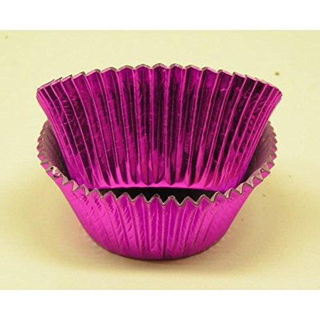 500pc Large Cerise Foil Baking Cup With Greaseproof