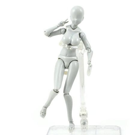 Lzndeal Action Figure Model Human Mannequin 2.0 Body Kun Doll Body-Chan Man Woman Action Figure Set for SHF Body Kun Doll PVC Body-Chan DX Set 2.0 - image 3 of 9