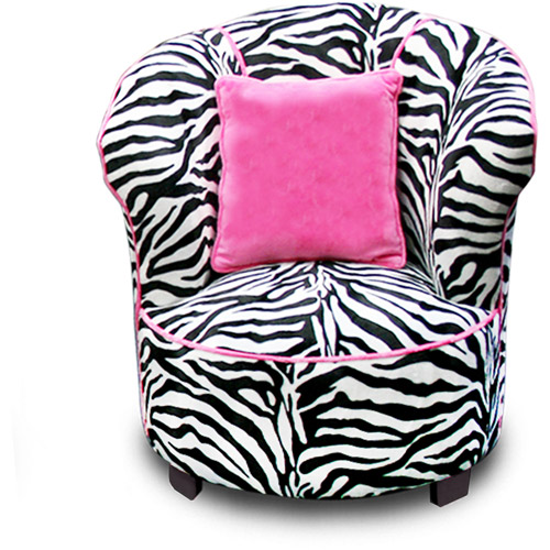 Harmony Kids Magical Tulip Minky Chair in Zebra