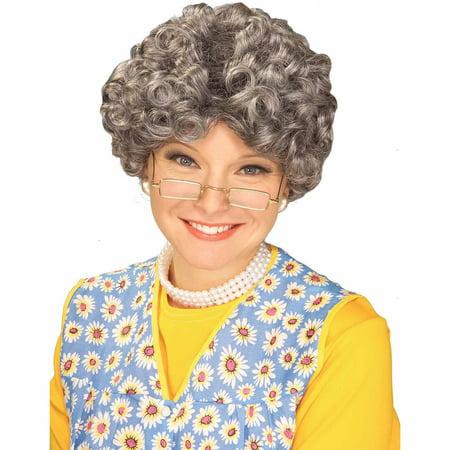 Mom Grey Wig Adult Halloween Costume - Grey Costume Wig