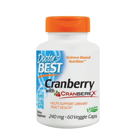Doctor's Best Cranberry with Cranberex, Non GMO, Gluten Free, Soy Free and (Best Test For Gluten Intolerance)