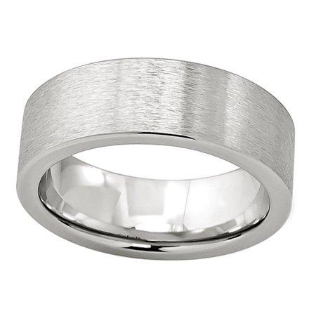 Pristine J Men Women Cobalt Wedding Band Ring 8mm Flat Brushed Sz 11