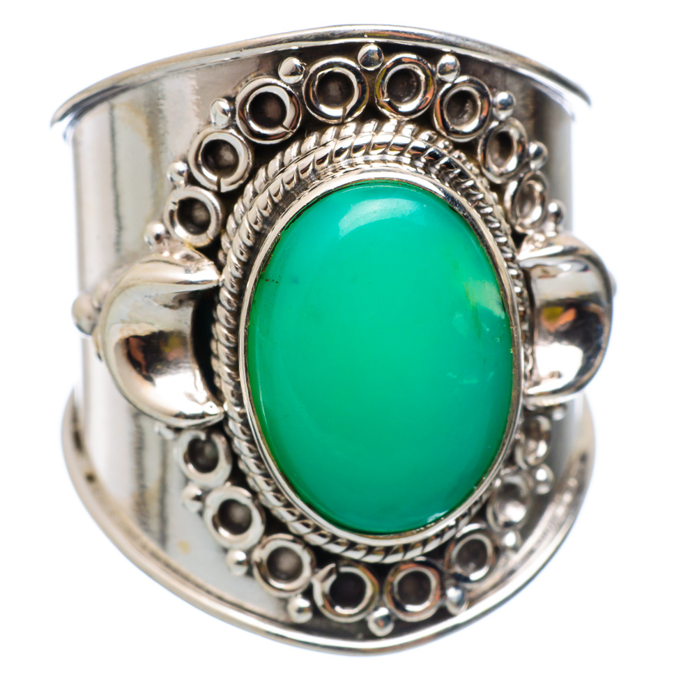 Ana Silver Co Chrysoprase Ring Size 8.75 (925 Sterling Silver) Handmade Jewelry RING854119 by Ana Silver Co.