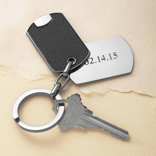 Personalized Remember the Date Key Chain