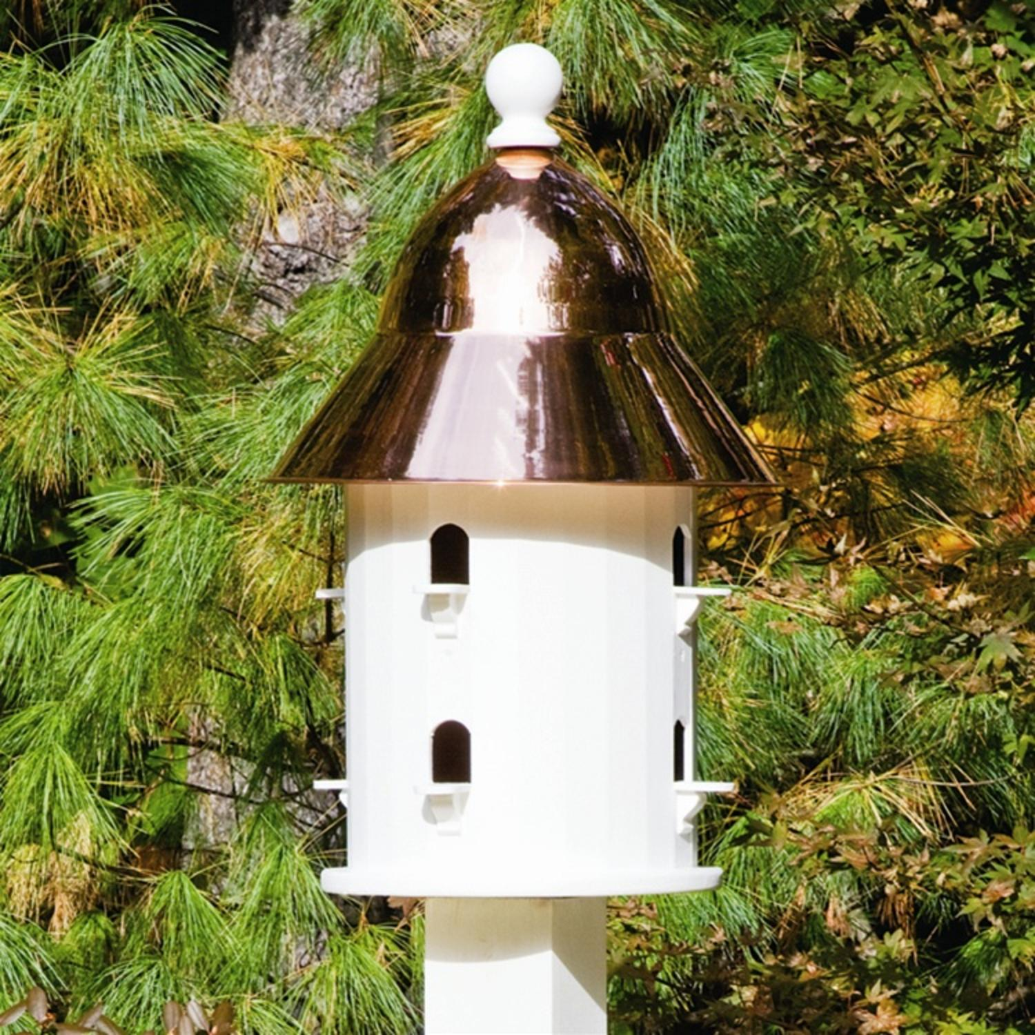 """17"""" Fully Functional Enchanted Polished Copper Bell Outdoor Garden Birdhouse"""