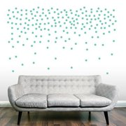 2-inch Confetti Dots Wall Decals (Set of 200) TEAL