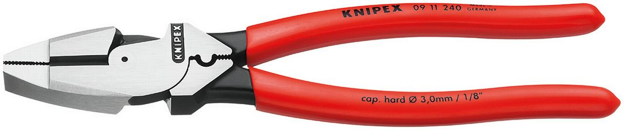 KNIPEX Tools 09 11 240 9.5-Inch Ultra-High Leverage Lineman's Pliers with Fish Tape Puller... by KNIPEX Tools