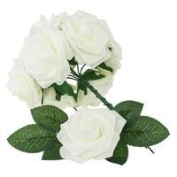 Ktaxon Artificial Roses Flowers 25 Pcs PE Foam Decoration Bridal Bouquet DIY Wedding Bouquets Centerpieces