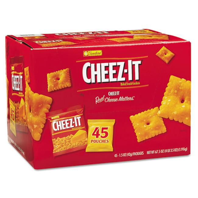 Kellogg'S 827553 Cheez-it Crackers, 1. 5 oz Pack, 45 Packs/Box