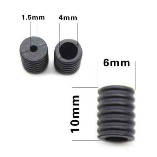 Black Silicone Toggles 0.4 in, 500 Pack Round Cord Locks for Drawstrings