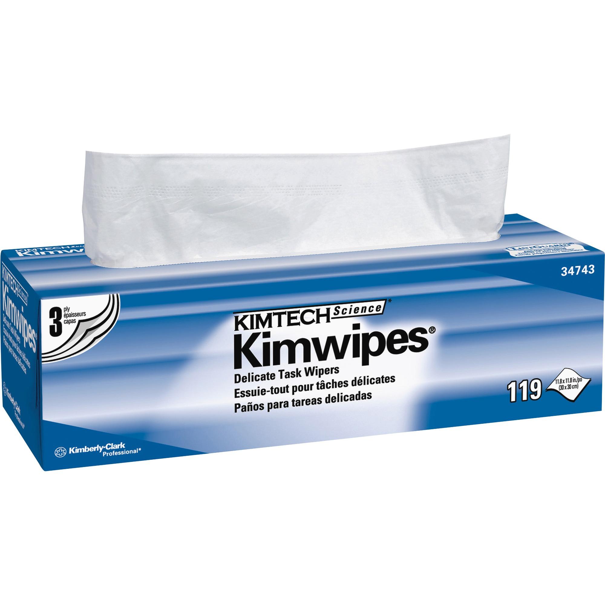 Kimberly-Clark Professional, KCC34743, KimWipes Delicate Task Wipers, 1 Box, White