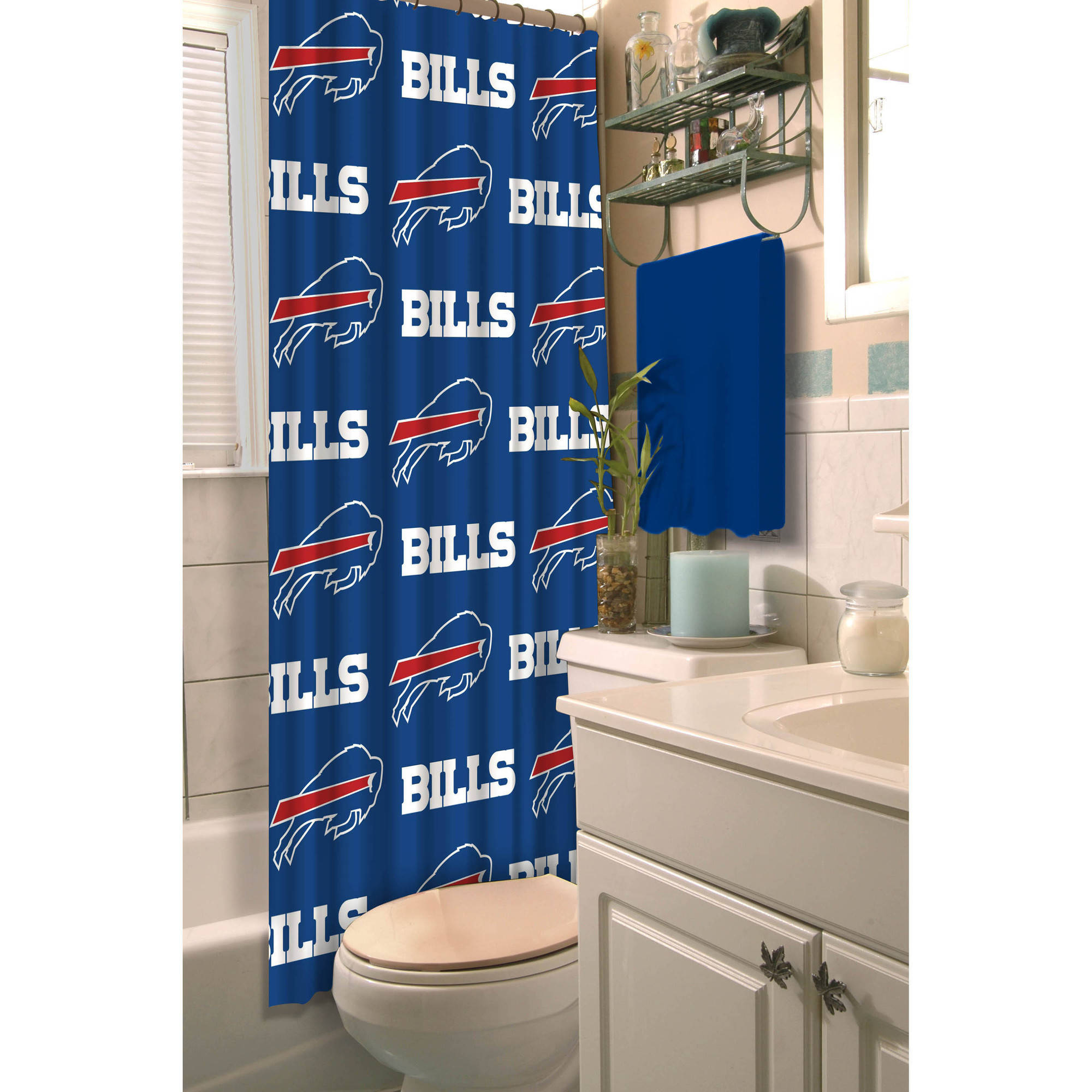 NFL Shower Curtain, Bills