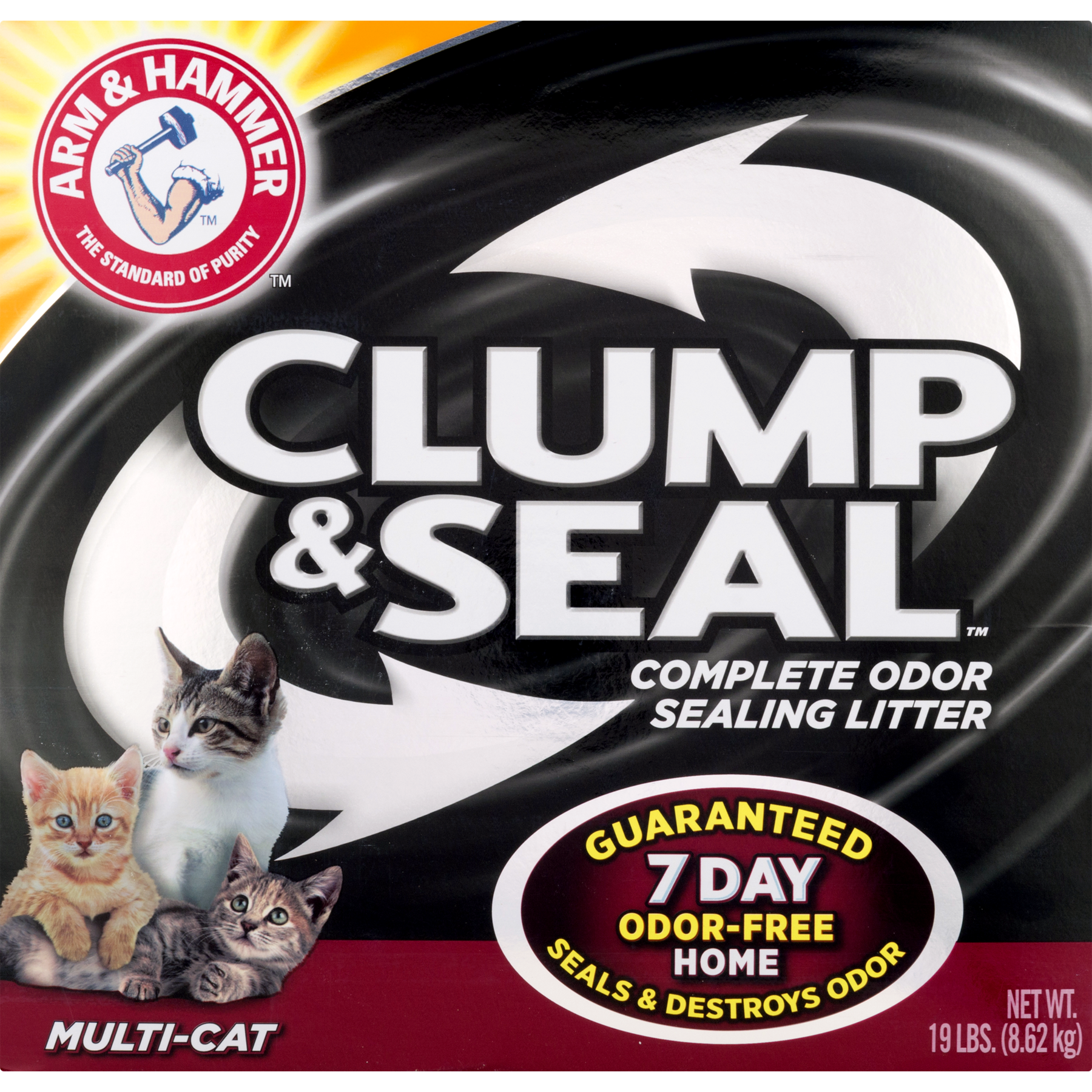 Arm & Hammer Clump & Seal Fresh Home Cat Litter, 19-lb Box