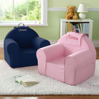 Personalized Take Along Chair - Navy - Gray Thread