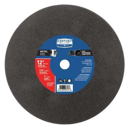 CENTURY DRILL AND TOOL 08717 High Speed Metal Saw Blade,12x1/8 in. G4093498