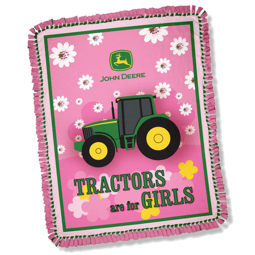Springs Creative John Deere Tractors Are For Girls Throw Kit