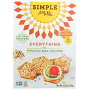 SIMPLE MILLS EVERYTHING SPROUTED SEED CRACKERS, 4.25 OZ.