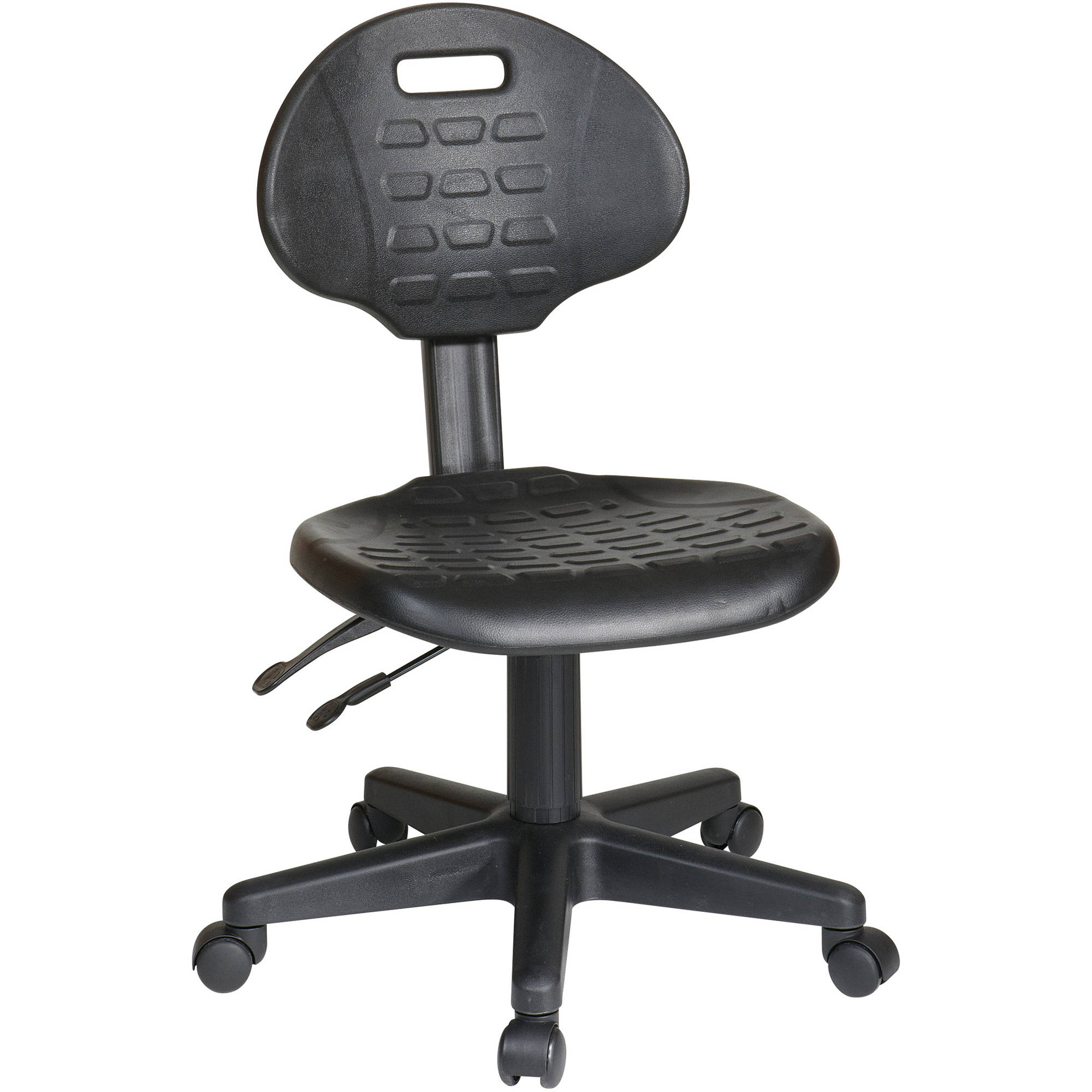 Work Smart Ergonomic Chair with Seat Tilt and Back Angle Adjustment, Black