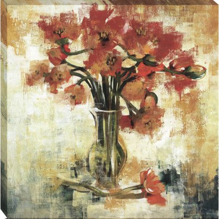 Tangletown Fine Art Symphony of Poppies by Liz Jardine Framed Painting Print on Wrapped Canvas