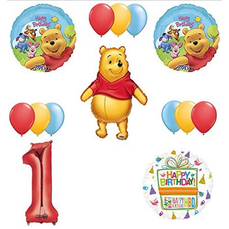 Winnie The Pooh 1st First Birthday Party Supplies and Balloon - Winnie The Pooh Party