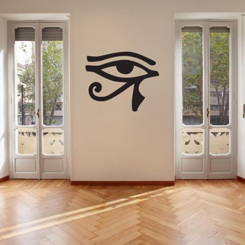 Eye of Horus Vinyl Wall Art Decal 28in x 22in Silver