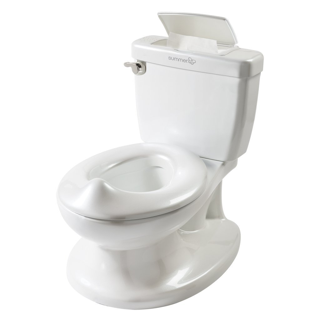 My Size Potty, PinkHandle features a flush sound to reward a job well done By Summer Infant by Summer Infant