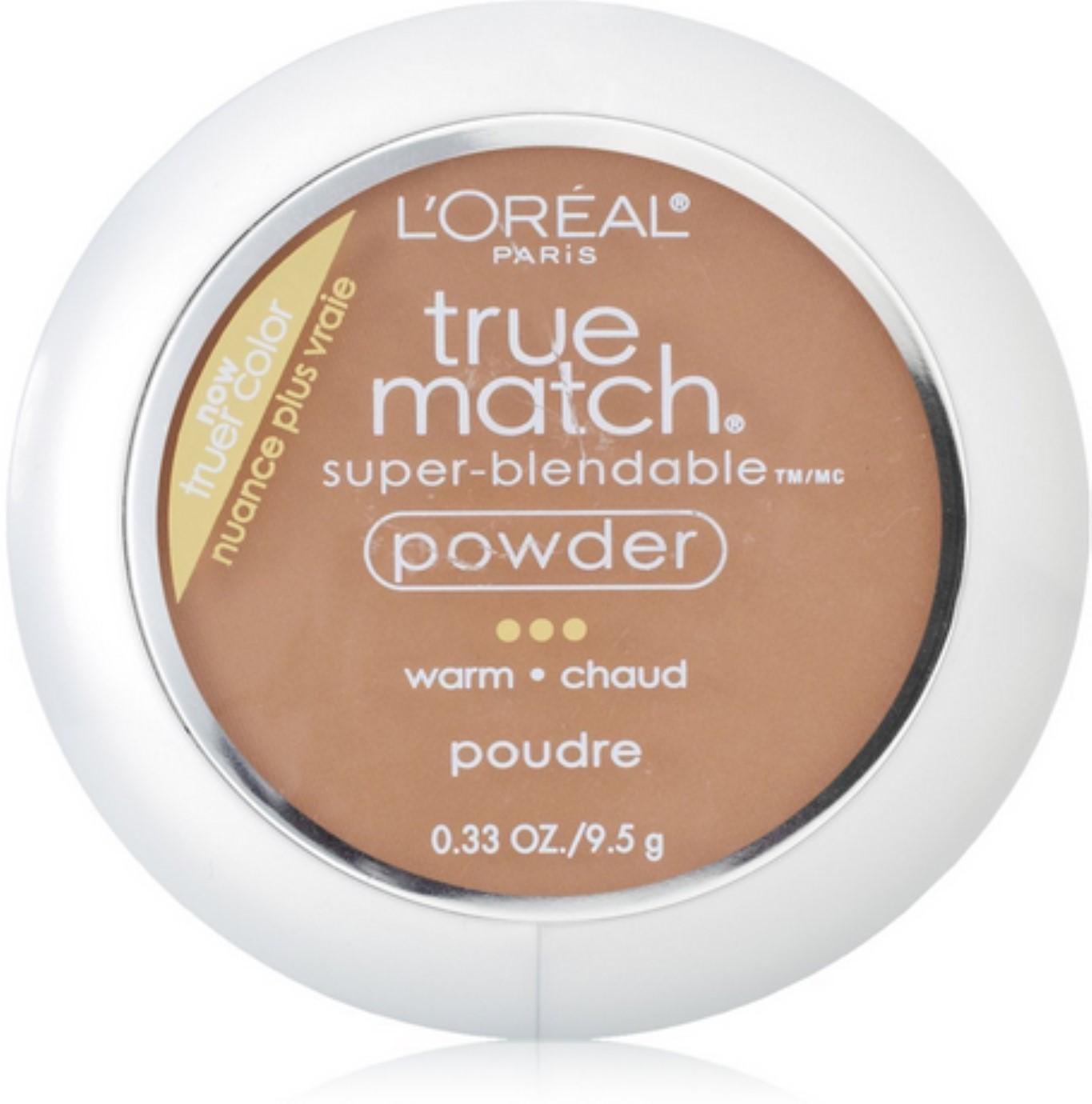 L'Oreal True Match Powder, Creme Cafe [W8], 0.33 oz (Pack of 4)