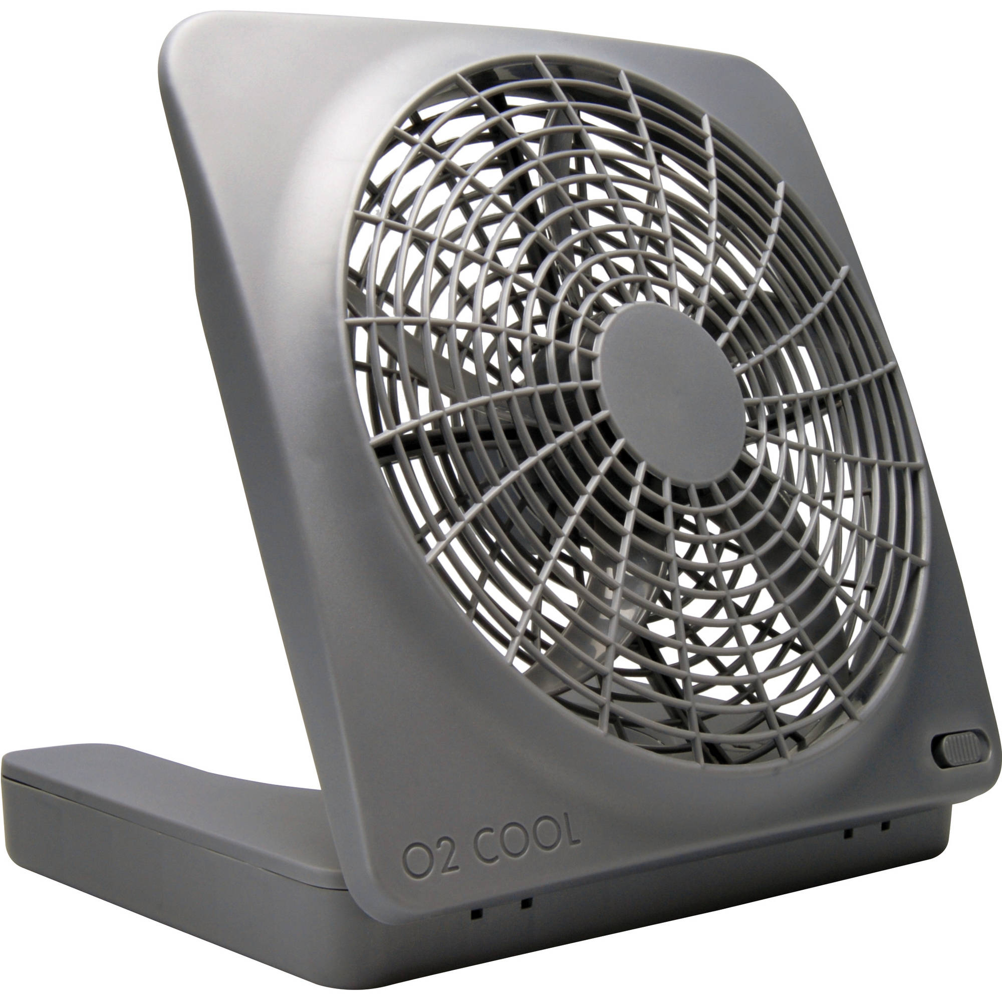 "O2C 10"" Portable Fan with 2-Speed 10"" Blade with Built-In Handle"