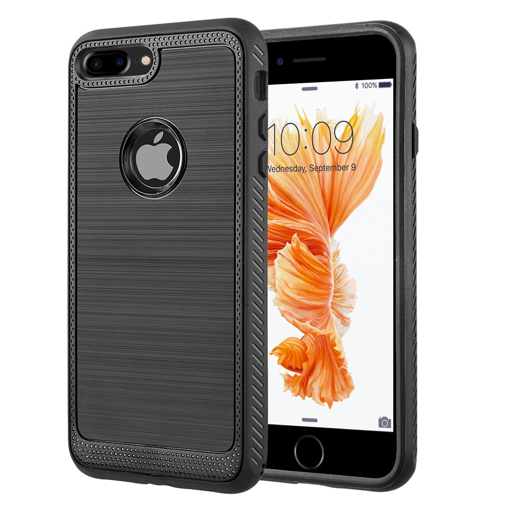 iPhone Case for iPhone 8 Plus Protek Silky Tpu Case - Black