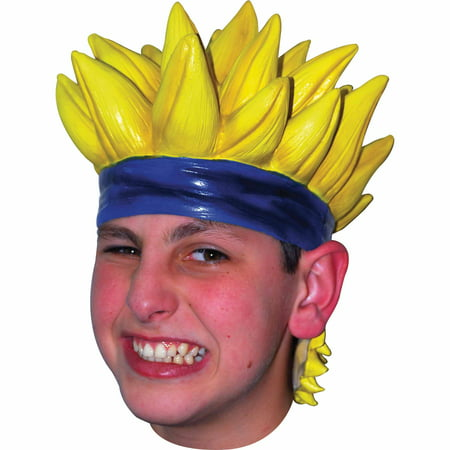 Yellow Anime Wig 7 Latex Adult Halloween Accessory for $<!---->