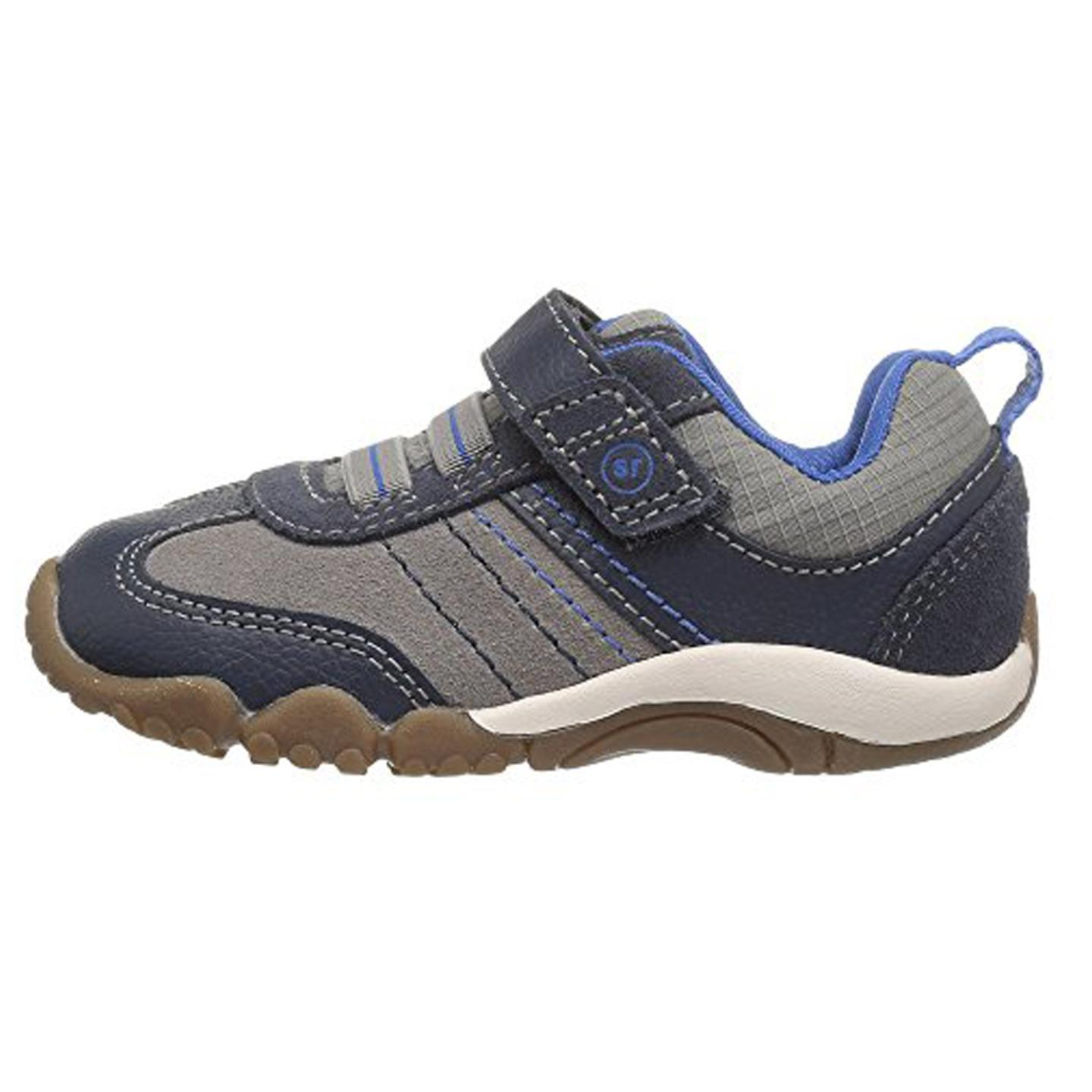 Stride Rite Boys' Srtech Prescott (Toddler) Sneaker Navy Stone 4 W by Stride Rite