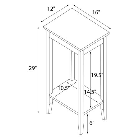 Dhp rosewood tall small space square end table coffee for Small tall end table