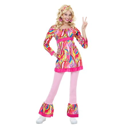 Plus Size Disco Top and Bell Bottoms Costume - 4X
