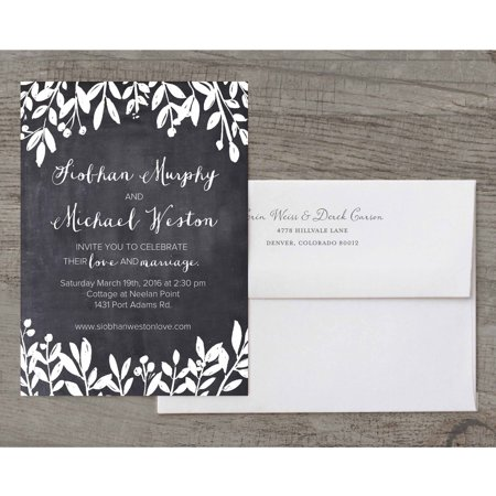 Autumn Leaves Invitation - Petite Leaves Deluxe Wedding Invitation