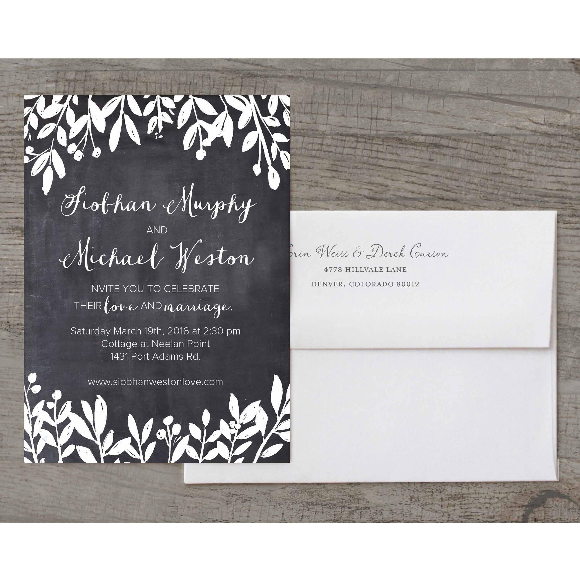 Petite Leaves Deluxe Wedding Invitation