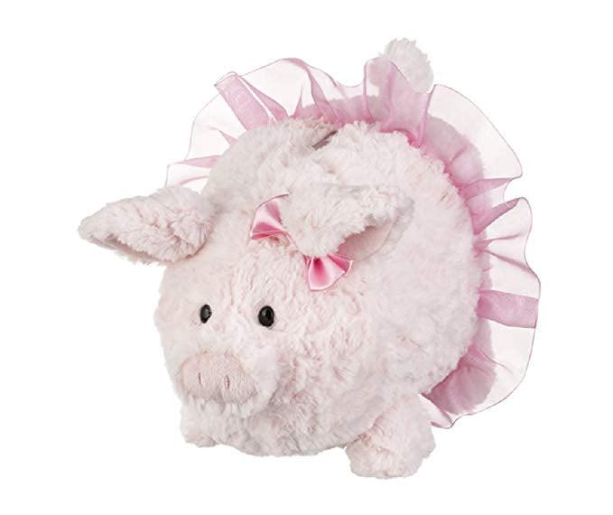 Ganz Baby Girl Pink Tutu 9 inches Portia Ballerina Plush Piggy Bank by