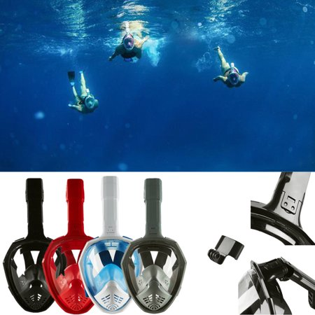 Anti-Fog Swimming Diving Full Face Mask Surface Snorkel Scuba for GoPro - Scuba Masks