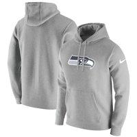 Seattle Seahawks Nike Club Fleece Pullover Hoodie - Heathered Gray