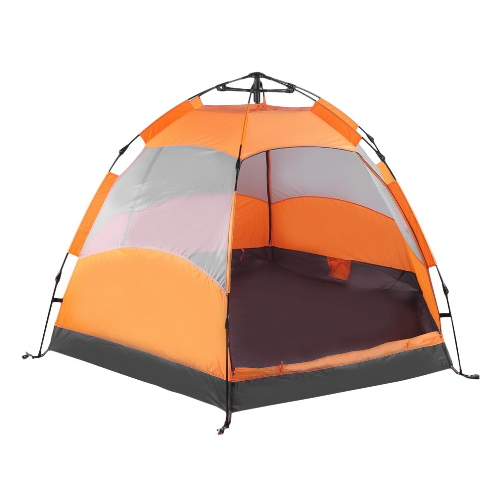 Double Layers Pop Up Tents For Camping Six Corner 5-8 Person Automatic Sunshade Camping Picnic Rainproof Beach Tents Sun... by