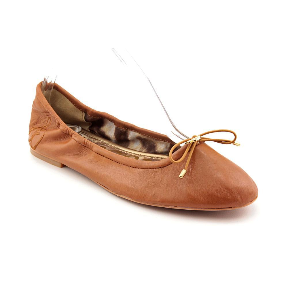 Sam Edelman Felicia Women  Round Toe Leather Brown Ballet Flats