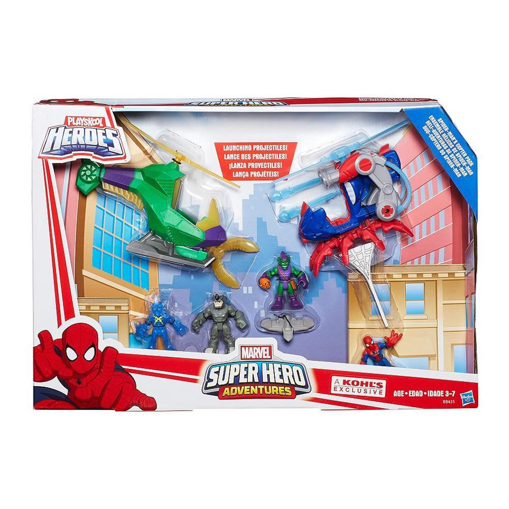 Playskool Marvel Super Hero Adventures Spider-Mans Copter Pack Hasbro by Hasbro