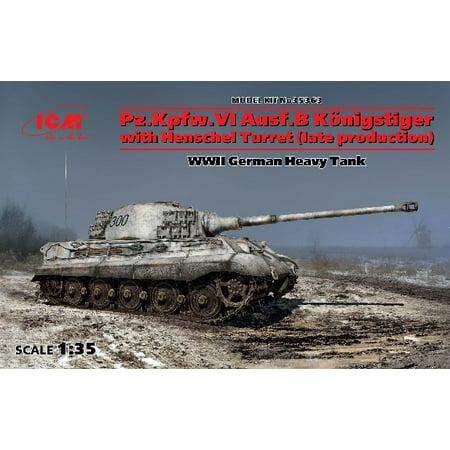 King Tiger Heavy Tank - 1/35 WWII King Tiger PzKpw VI Ausf B Konigstiger Late Production Heavy Tank w/Henschel Turret