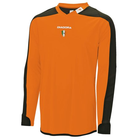 Diadora Men's Enzo Goalkeeper Jersey Shirts ORANGE S (United Goalkeeper Jersey)