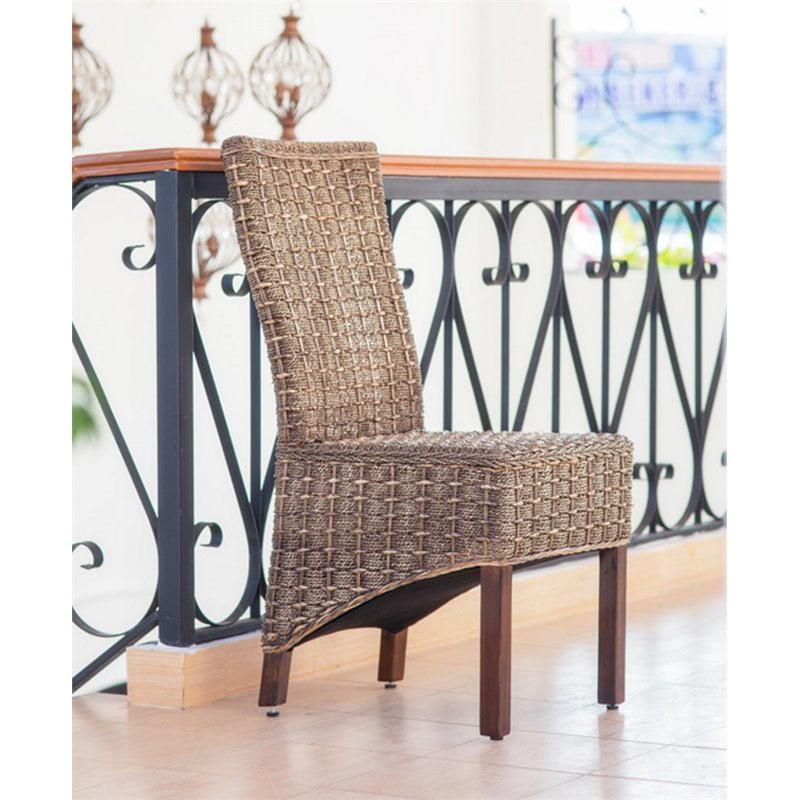 International Caravan Bali Bayu Woven Abaca Dining Chair (Set of 2) - image 2 of 2