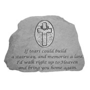 Kay Berry 9455 If Tears Could Build A Stairway Memorial Stone with Oval Cross Personalized Insert
