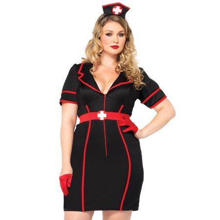 Leg Avenue Womens Naughty Night Nurse Plus Size Costume (Plus Size Nurse Costume)