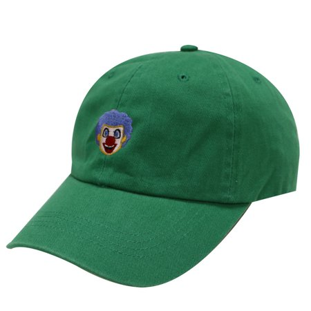 City Hunter C104 Clown Face Cotton Baseball Dad Cap 18 Colors (Kelly Green)