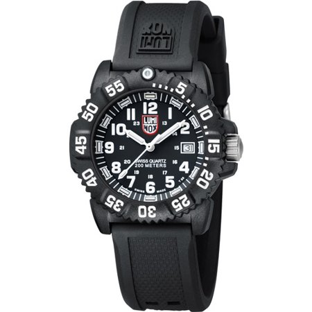 Luminox Unisex Navy Seal Colormark 38mm 38mm Black Rubber Band Polycarbonate Case Quartz Analog Watch 7051